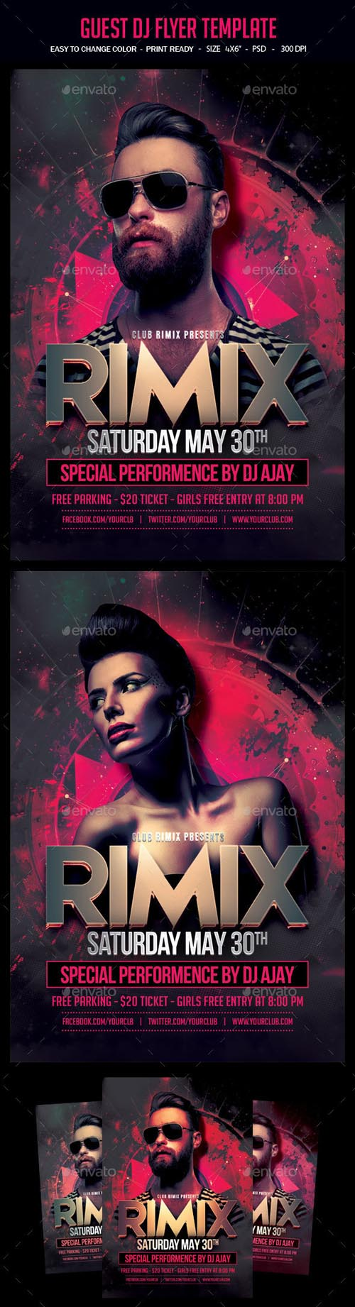 Guest Dj Flyer Template 14518779
