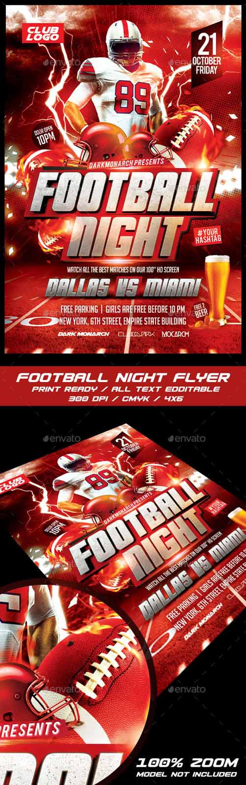 Football Night Flyer 14541760