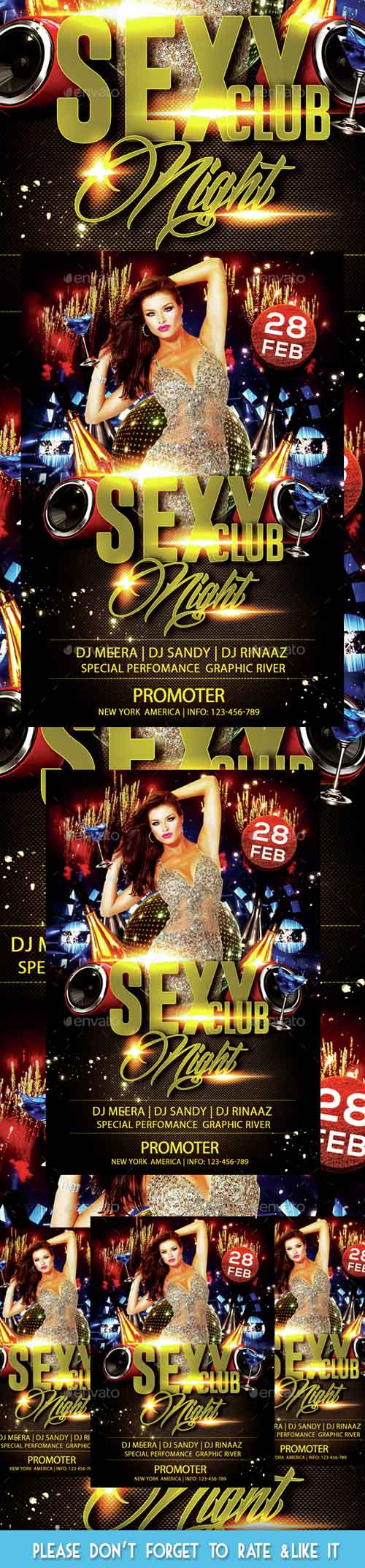 Sexy Club Night Party Flyer 14541207