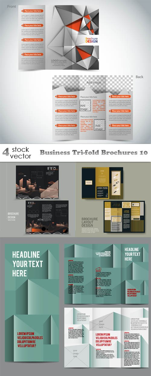 Vectors - Business Tri-fold Brochures 10