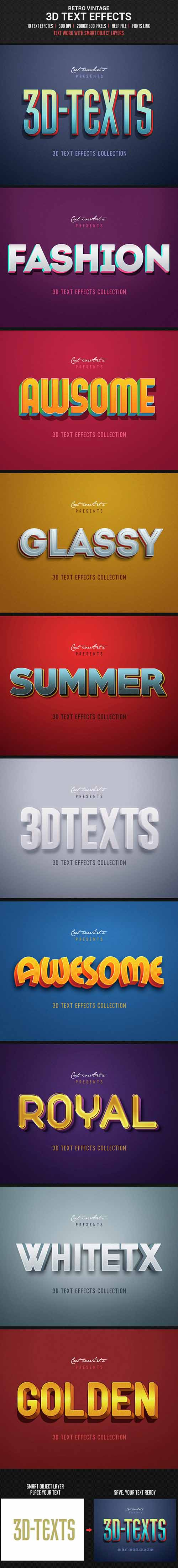 Retro Vintage 3D Text Effects 14558777