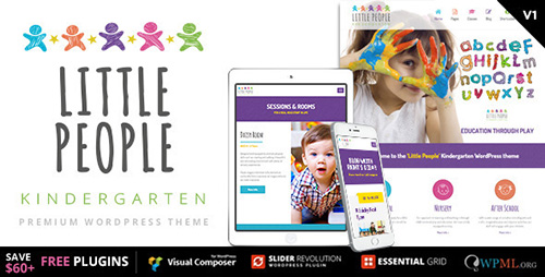 ThemeForest - Little People, Kindergarten v1.1.1 - WordPress Theme - 11494908