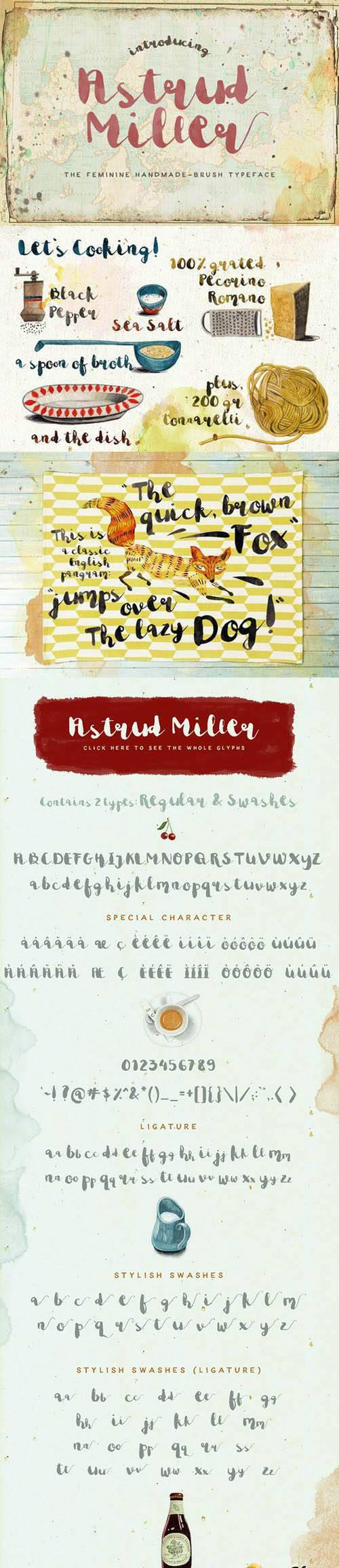 Astrud Miller Font