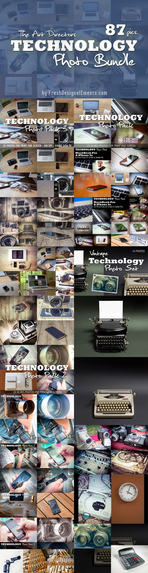 Technology Photo Bundle 87 HRs - Creativemarket 307582