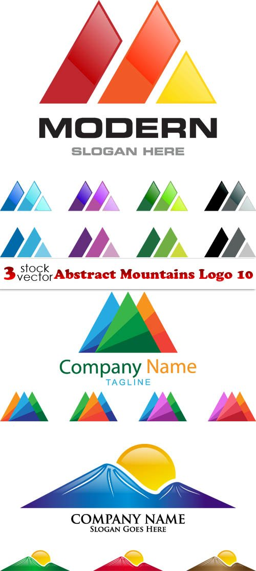 Vectors - Abstract Mountains Logo 10