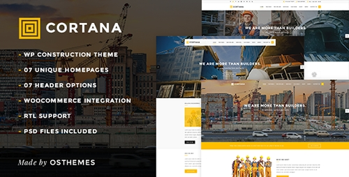 ThemeForest - Cortana v1.0.0 - Construction & Building WordPress Theme - 13645000