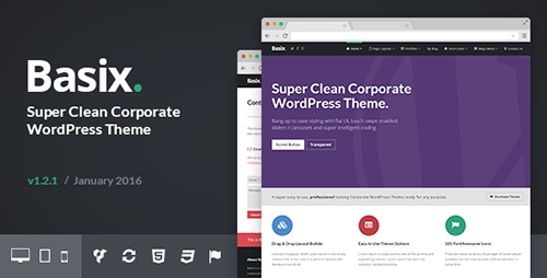 ThemeForest - Basix v1.2.0 - Corporate WordPress Theme - 8041961