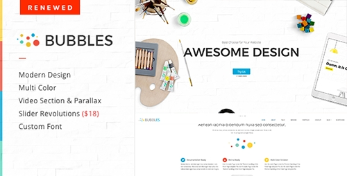 ThemeForest - Bubbles v1.3.2 - Parallax One Page WordPress Theme - 7241908