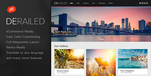 ThemeForest - DeRailed v1.9 - Photography & Portfolio Theme - 6828790