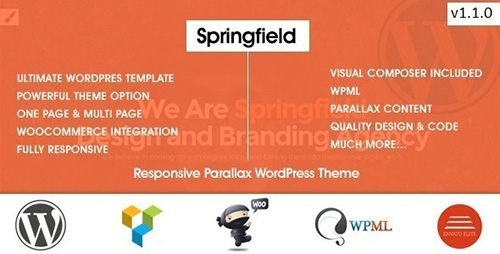 ThemeForest - Springfield v1.1.0 - Responsive Parallax WordPress Theme - 9510123