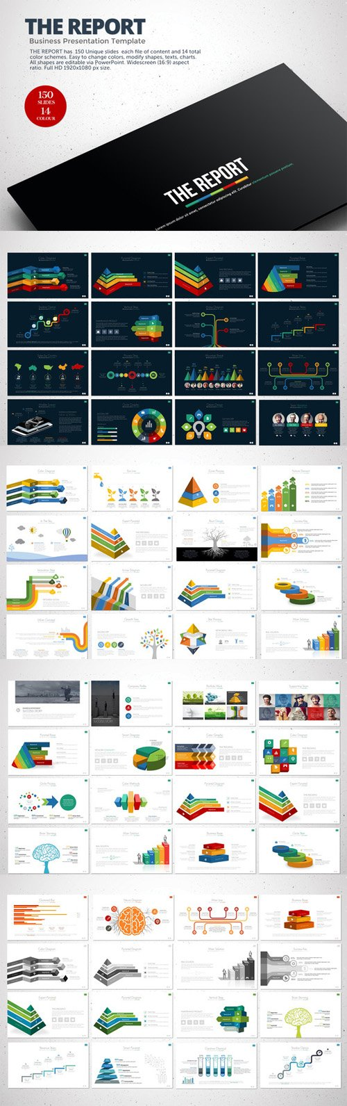 Creativemarket - The Report Powerpoint Template 128888