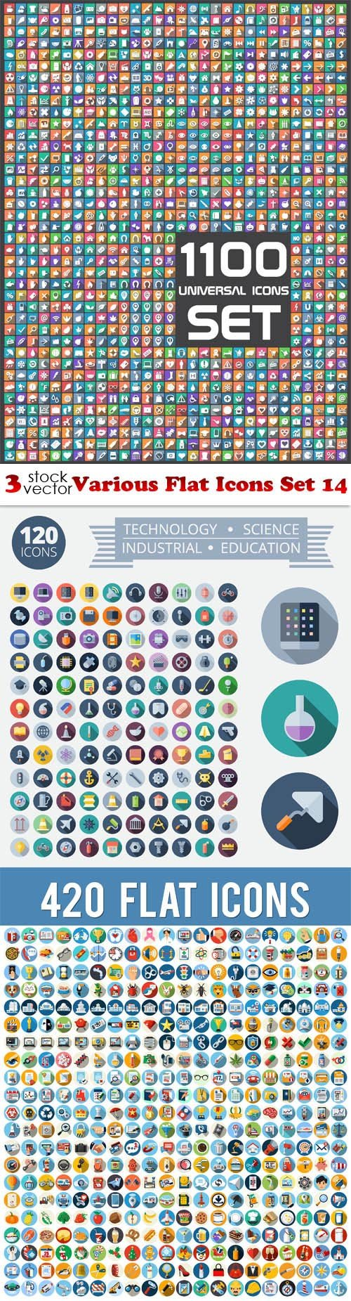Vectors - Various Flat Icons Set 14