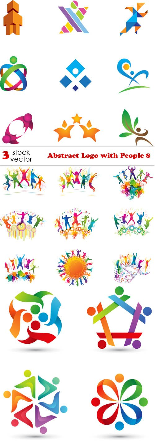 Vectors - Abstract Logo with People 8
