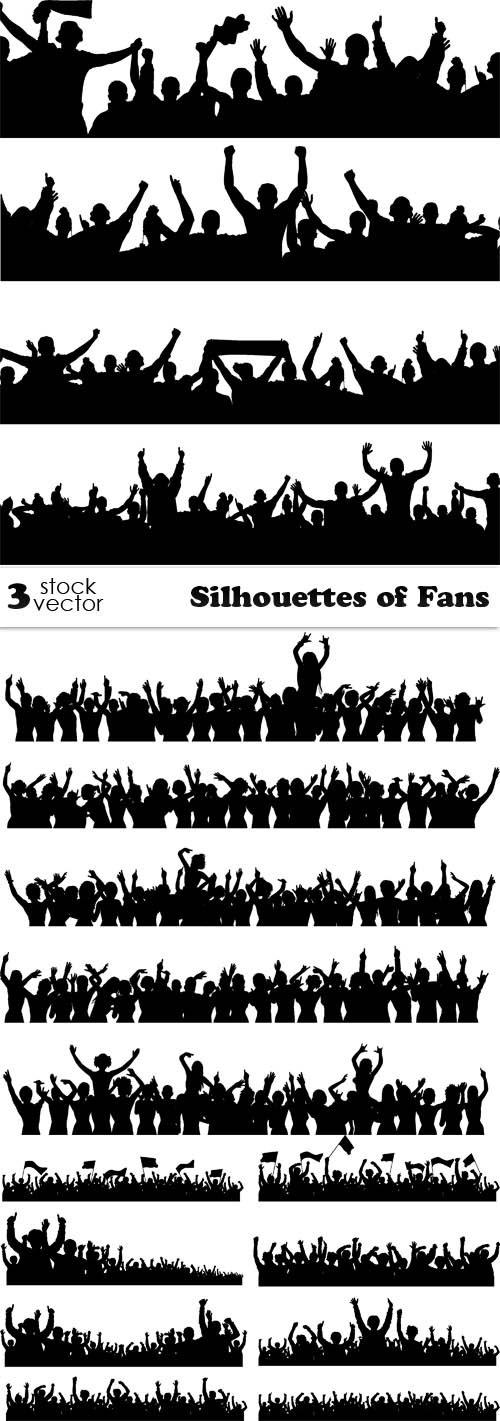 Vectors - Silhouettes of Fans