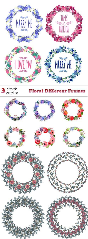 Vectors - Floral Different Frames