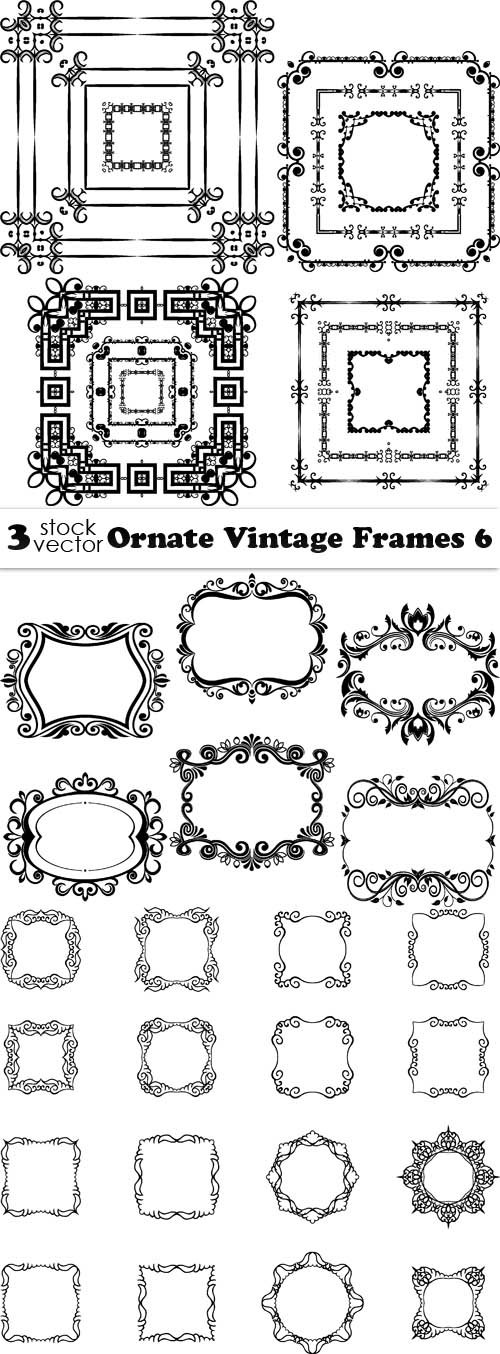 Vectors - Ornate Vintage Frames 6
