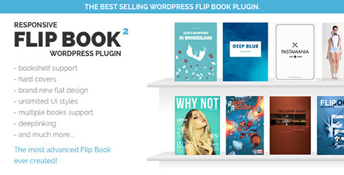 CodeCanyon - FlipBook WordPress Plugin v2.1.4 - Flip Book Creator, PDF To FlipBook, jQuery, 3D, Responsive, Bookshelf - 2372863