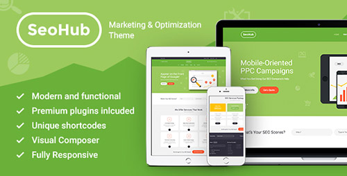 ThemeForest - SEOHub v1.1 - SEO & Marketing Wordpress Theme - 13538291