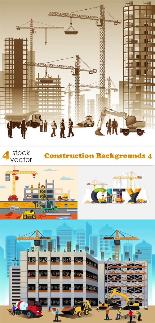 Vectors - Construction Backgrounds 4
