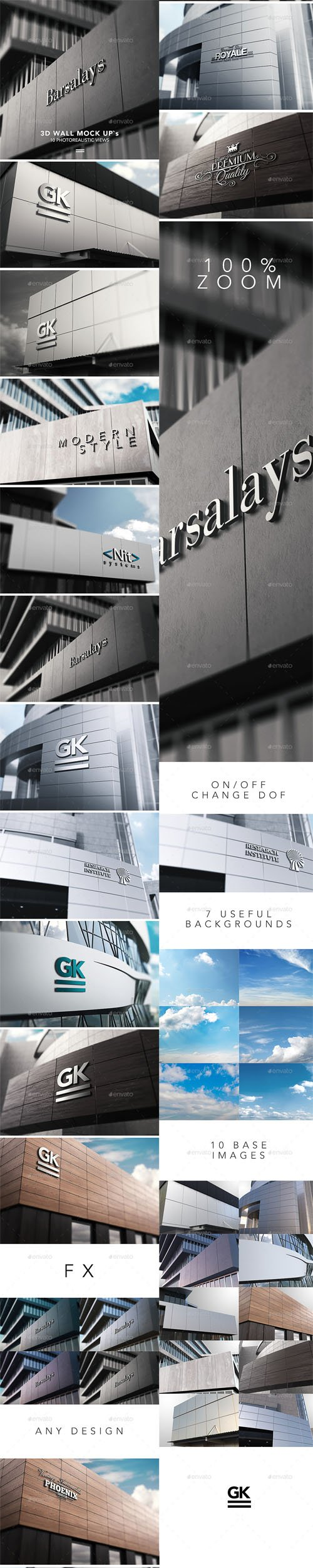 GraphicRiver - 3D Logo Signage Wall Mock Up 14345872