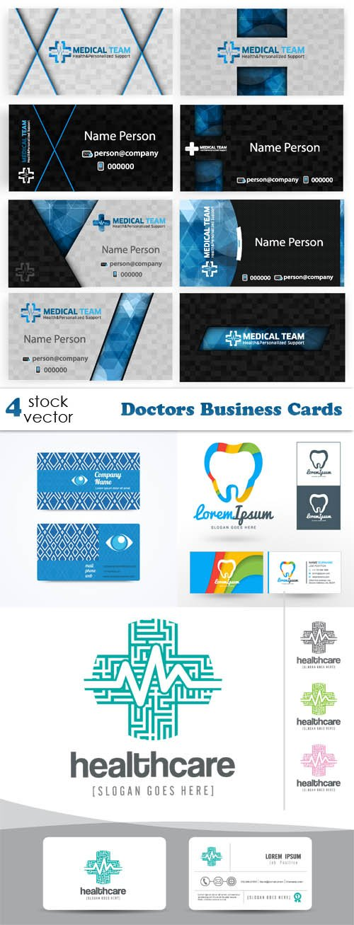 Vectors - Doctors Business Cards