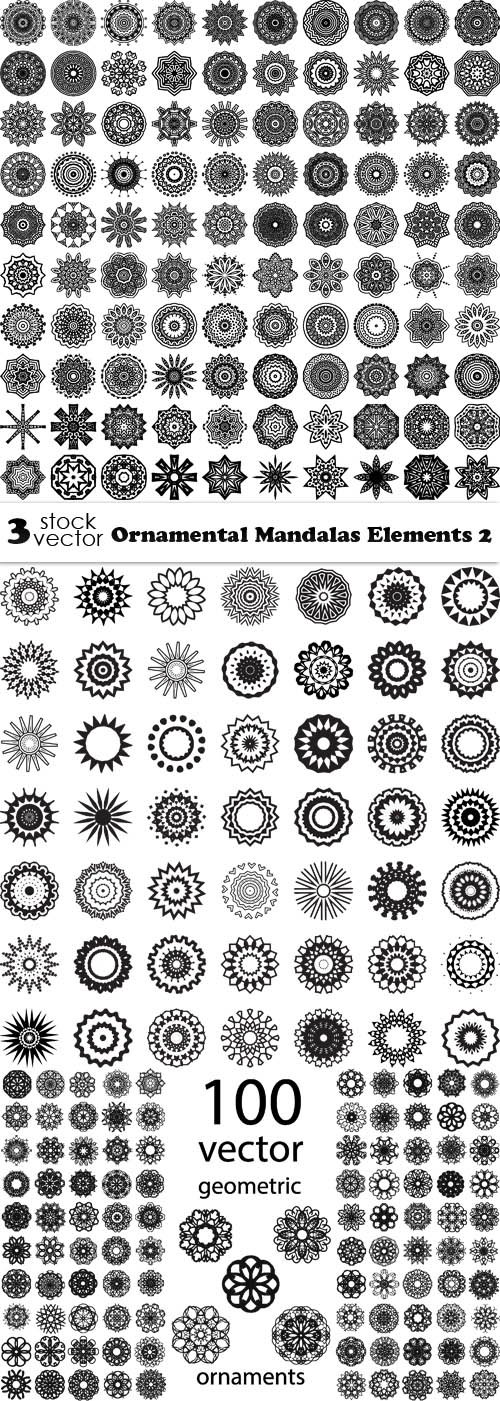 Vectors - Ornamental Mandalas Elements 2