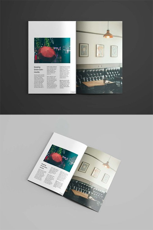 A4 Magazine Mock-up Template