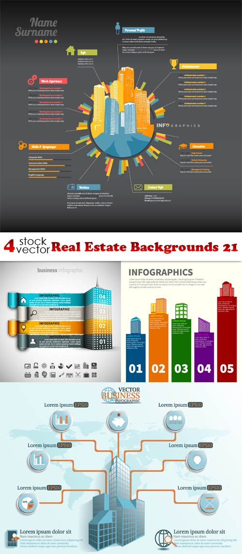 Vectors - Real Estate Backgrounds 21