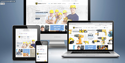 ThemeForest - 456 Industry v1.4 - Repair Tools Shop & Construction / Building / Renovation WP Theme - 6147589