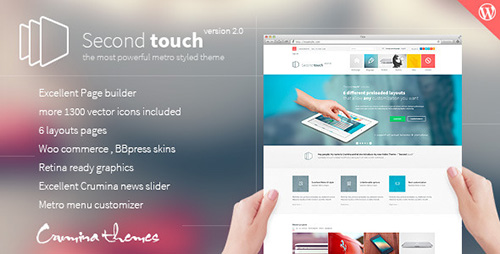 ThemeForest - Second Touch v1.7.8 - Powerful metro styled theme - 5681032