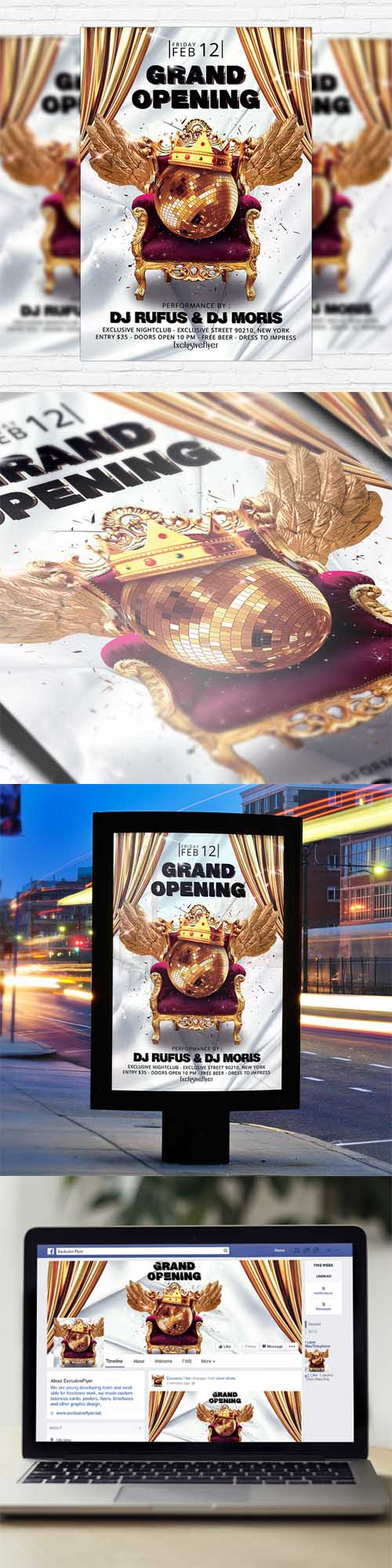 FLYER TEMPLATE GRAND OPENING FACEBOOK COVER Heroturko Download – Grand Opening Flyer Template