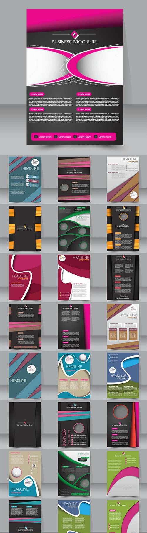 Flyer magazine cover brochure business 11