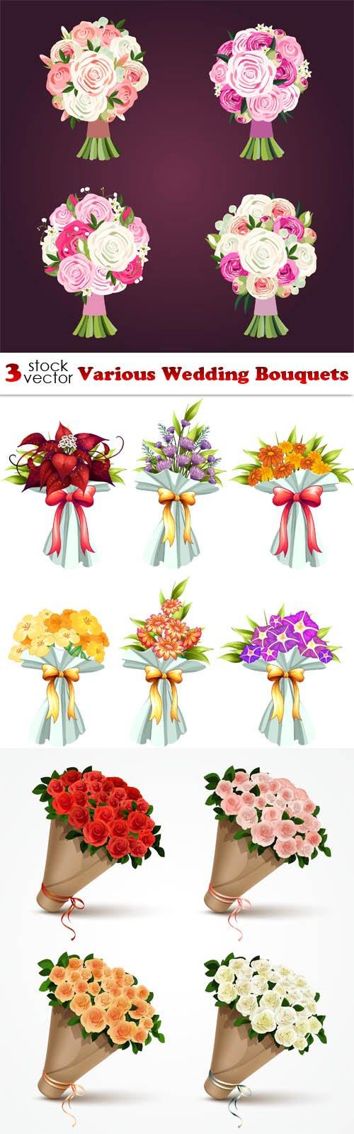 Vectors - Various Wedding Bouquets