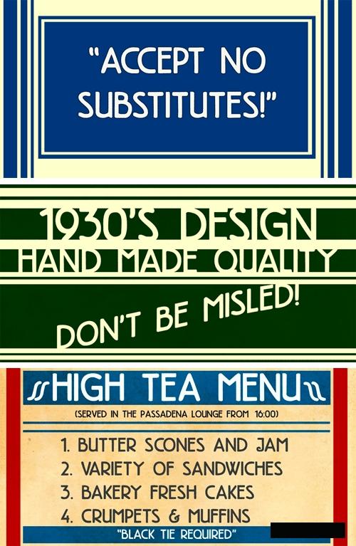 High Tea Font