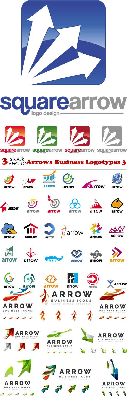 Vectors - Arrows Business Logotypes 3