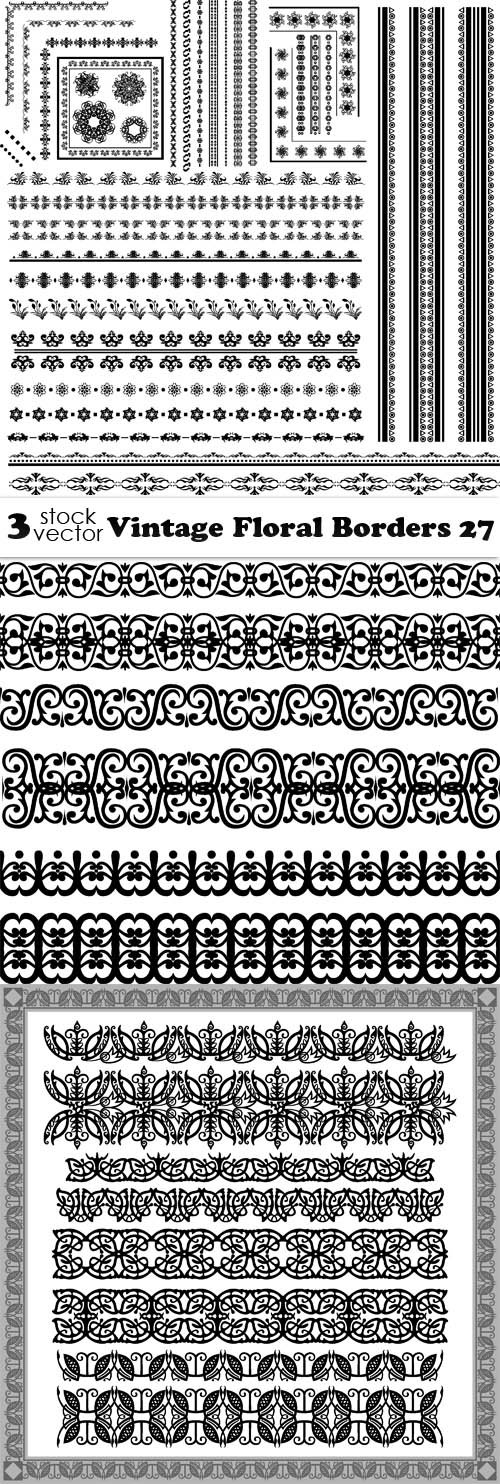 Vectors - Vintage Floral Borders 27