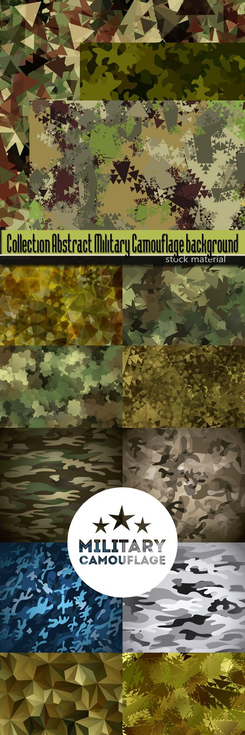 Collection Abstract Military Camouflage background
