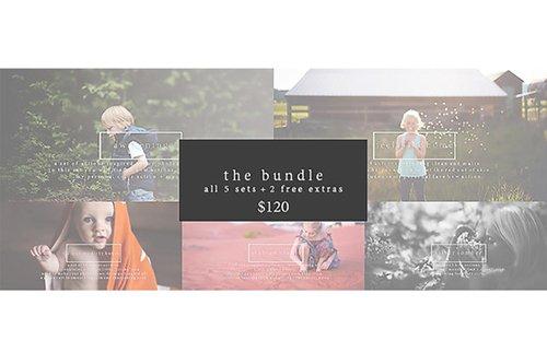 THE BUNDLE - PHOTOSHOP ACTIONS - CREATIVEMARKET 83351