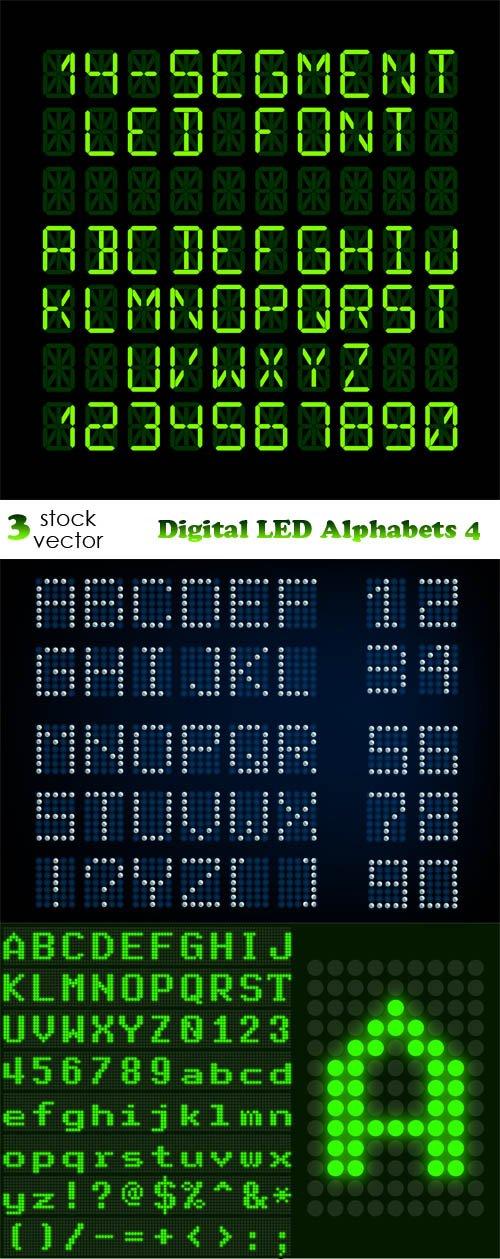 Vectors - Digital LED Alphabets 4