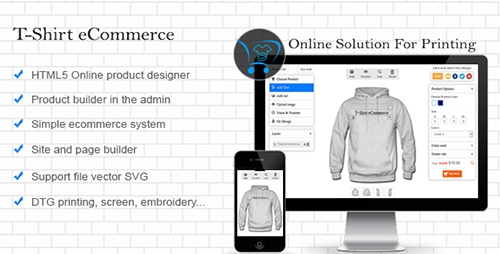 CodeCanyon - T-Shirt eCommerce v1.1.1 - T-Shirt Designer - 10753483