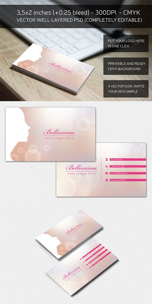Blurred Fashion business card - Creativemarket 161397