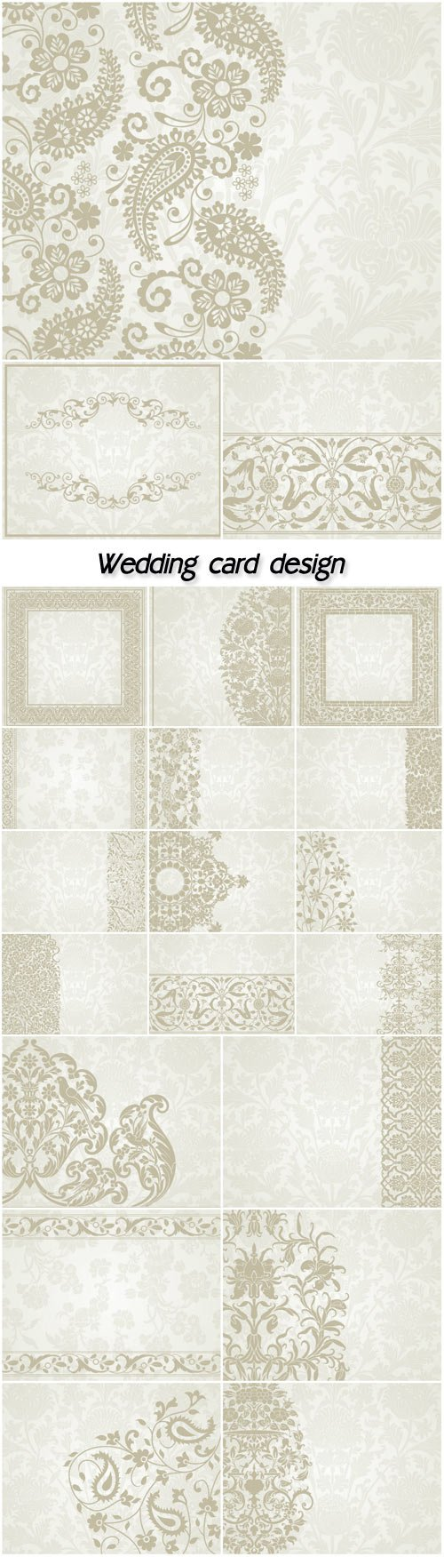 Wedding card design, paisley floral pattern, India