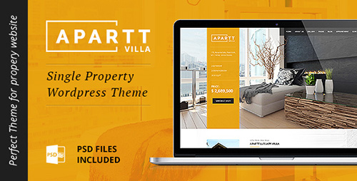ThemeForest - APARTT VILLA v1.0 - Single Property Real Estate WordPress Theme - 14351862