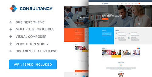 ThemeForest - Consultancy v1.0 - WP Consultancy & Business Theme - 14096085