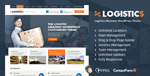 ThemeForest - Logistics v1.1 - Transportation Warehousing WP Theme - 13066327
