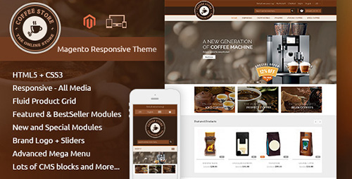ThemeForest - Coffee - Magento Responsive Theme (Update: 4 November 15) - 9604892