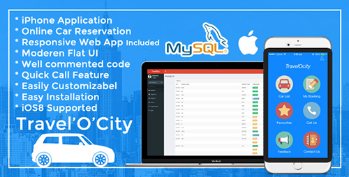 CodeCanyon - TravelOcity v1.0 - Car Rental iOS Mobile App - 8983695