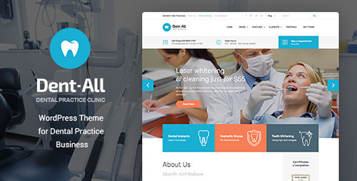 ThemeForest - Dent-All v1.3.4 - Dental Practice WordPress Theme - 13065248