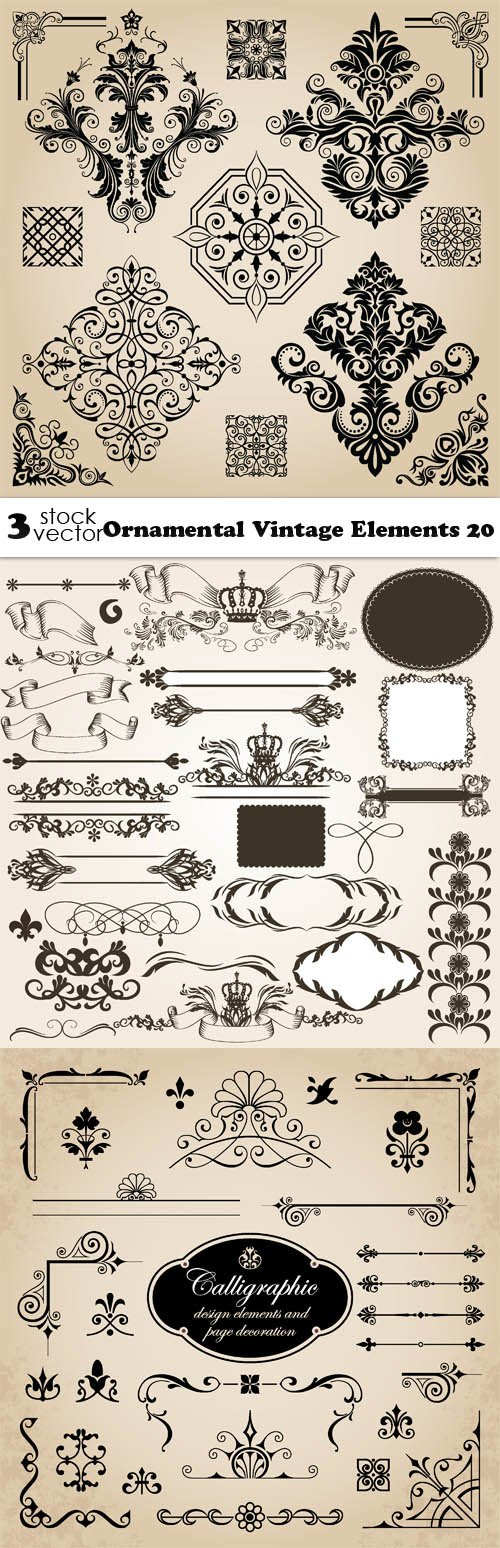 Vectors - Ornamental Vintage Elements 20