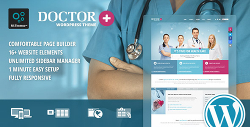 ThemeForest - Doctor+ v1.42 - Responsive Medical WordPress Theme - 9355989